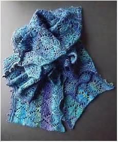 lengthwise knit lace scarf allfreeknitting