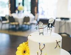 personalized cake topper made from shrinky dinks
