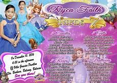 Sample 7th Birthday Invitation Sample Invitation Sofia The 1st For Seventh Birthday Get