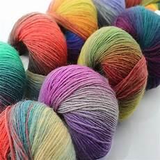 2017 new 5balls lot rainbow color knitting wool yarn