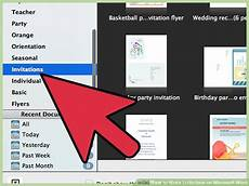 How To Make Invitations On Microsoft Word How To Make Invitations On Microsoft Word 10 Steps