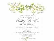 Retirement Party Invitation Template Free Idesign A Retirement Party Invitation