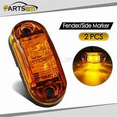 Amber Marker Lights 2x 2 5 Quot Clearance Amber Oval Led Lamp 2 Diode Trailer