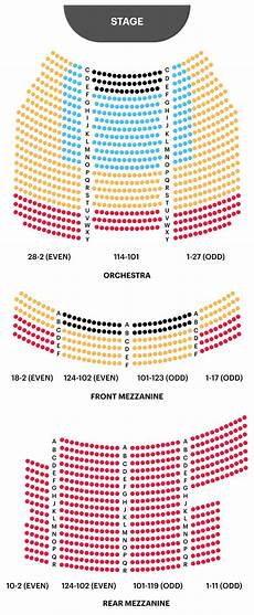 Lafontaine Theater Seating Chart Your A To Z Guide To Broadway Theater Seating Charts