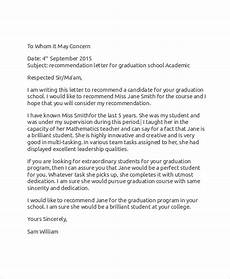Academic Letter Of Recommendation Sample Free 7 Sample Recommendation Letter Templates In Ms Word