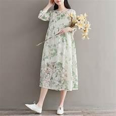 2018 new summer vintage dress print slim