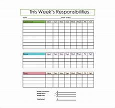 Job Responsibilities Chart Responsibility Chart Template 11 Free Sample Example