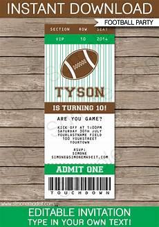 Ticket Invite Template Free Football Ticket Invitation Template Ticket Invitations