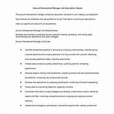 Account Manager Job Description Sample Job Description Template 47 Free Word Excel Pdf
