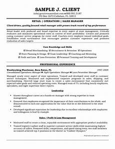 Retail Sales Manager Resume Samples Retail Operations And Sales Manager Resume