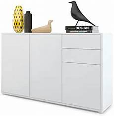 vladon cabinet chest of drawers ben v3 carcass in white