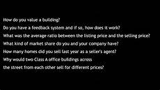 Real Estate Interview Questions Real Estate Interview Questions Answers Youtube