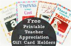 Free Printable Gift Cards Free Printable Teacher Appreciation Gift Card Holders