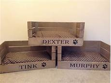 wooden personalised apple crate cat bed