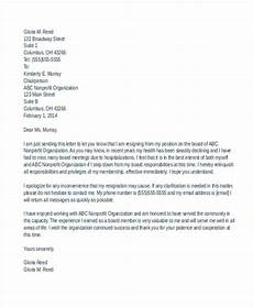 Board Resignation Letter Sample 7 Board Resignation Letters Free Sample Example Format