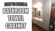 how to build a bathroom towel cabinet