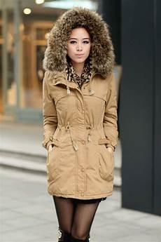 womens fur coats winter ochre womens winter coats faux fur lining parka with fur
