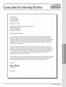 Cover Letter For An Internship Example 16 Best Cover Letter Samples For Internship Wisestep