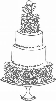 wedding cake black and white drawing at paintingvalley com