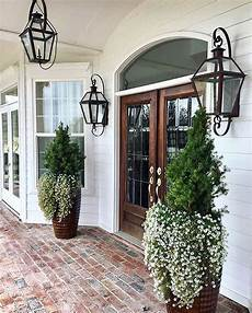 Farmhouse Front Porch Lights Modern Farmhouse Front Porch Brick Porch Home First Home