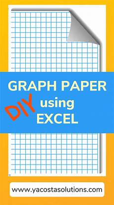 How To Make Graph Paper In Excel 2010 How To Make Graph Paper In Excel With Tutorial Excel