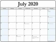 July 2020 Calendar Printable July 2020 Calendar With Holidays