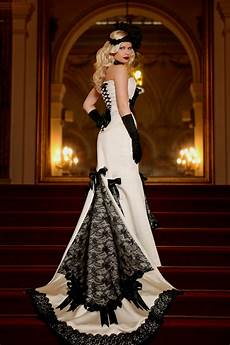 35 black white wedding dresses with edgy elegance