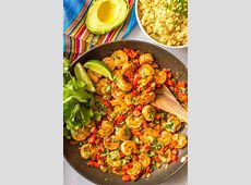 Quick   easy Mexican shrimp skillet (  video)   Family