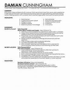 Sales Experience Resume Sample Customize Any Of Our Sales Resume Examples For 2020
