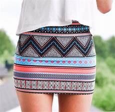 Aztec Design Skirts Skirt Tribal Aztec Mini Skirt Tribal Pattern Skirt Blue