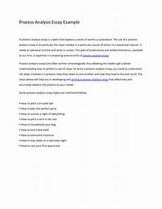Process Analysis Essay Topics Process Essay Examples Sample Topics Outline And How To