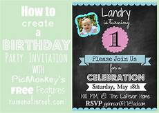 How To Make Party Invitations On Word How To Create An Invitation In Picmonkey