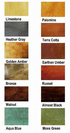 Stained Concrete Colors Chart Stained Concrete Houston