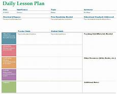 Teaching Planning Template Teacher Daily Lesson Planner Template Formal Word Templates