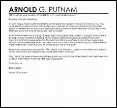 Letter Of Resignation To Parents From Teacher Principal Resignation Letter To Parents Livecareer