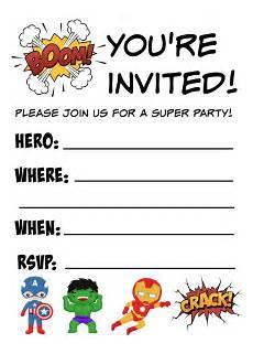 Printable Superhero Invitations Free Printable Superhero Birthday Invitations Not Quite