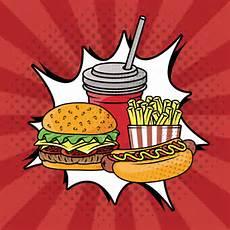 Pop Art Food Fast Food Pop Art Style Vector Free Download
