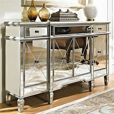 mirrored three drawer four door console chest by powell
