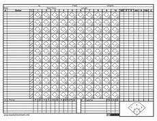 Baseball Scorecard 30 Printable Baseball Scoresheet Scorecard Templates ᐅ