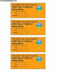 Babysitting Coupon Templates Free Printable Babysitting Coupon Download Free Clip Art
