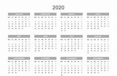 Year Calendar 2020 Printable Printable 2020 Calendar By Year Printable Calendar Free