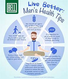 Men S Health Chart Live Better Men S Health Tips Infographic Bell