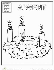 advent candles coloring page worksheet education
