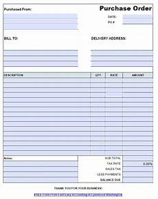 Po Templates Free Contractor Purchase Order Template Pdf