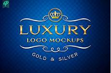 luxury logo mockup gold and silver branding mockups