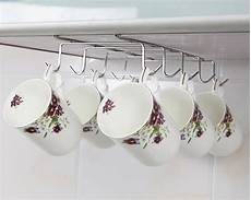 cabinet shelf mug cups storage rack metal holder