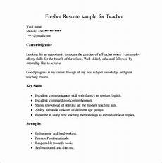 Resume Objective For Freshers Resume Template For Fresher 10 Free Word Excel Pdf