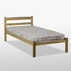 panama single bed frame in wax pine solid wood