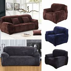 new universal sofa cover solid thick plush cover
