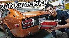 240z Light Conversion 240z Lights The Jdm Devil Z Build Series 13 Youtube